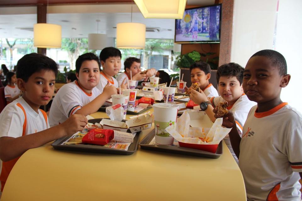 Recreação no McDonalds - Turma da Manhã